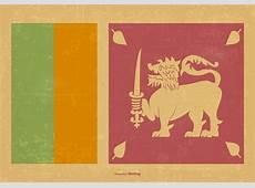 Vintage Flag of Sri Lanka Download Free Vector Art