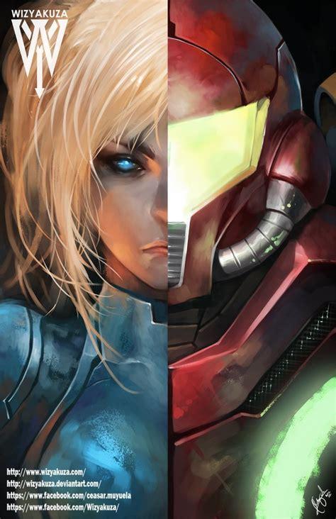 Metroid Samus And Zero Suit Split By Wizyakuzagod56 On