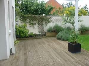 Amenagement Petite Terrasse Exterieur : amenagement petit jardin avec terrasse horenove ~ Melissatoandfro.com Idées de Décoration