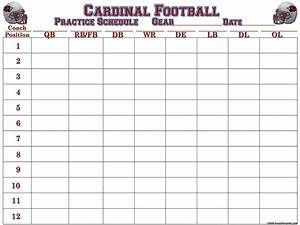 magnificent football practice schedule template gallery With football practice schedule template