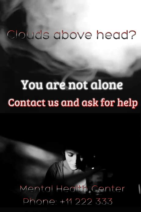 depression poster template postermywall