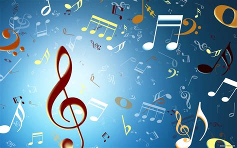musical notes hd wallpaper background image