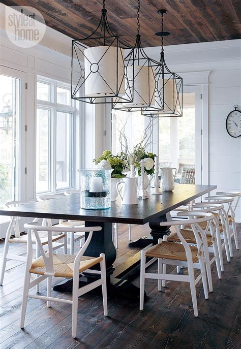 rustic dining room lighting ideas coastal muskoka living interior design ideas home bunch