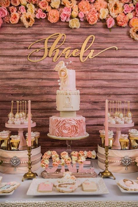 kara 39 s party ideas glamorous girl 1st birthday best 25 pink gold party ideas on pink and