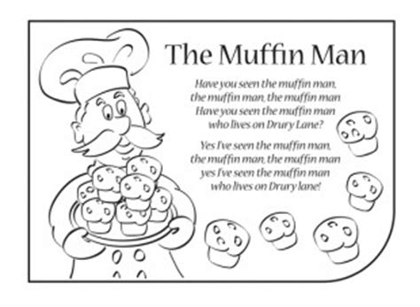muffin mancolouring page