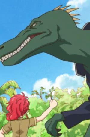 student dinosaur anime planet