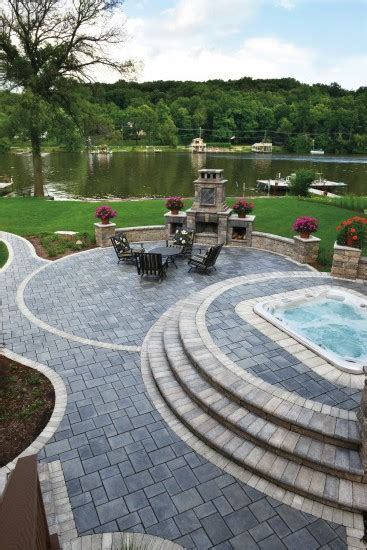 unilock stack outdoor living with richcliff paver photos