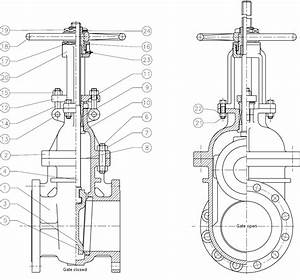 Technical Drawing Of A Rising Stem Gate Valve Osandy