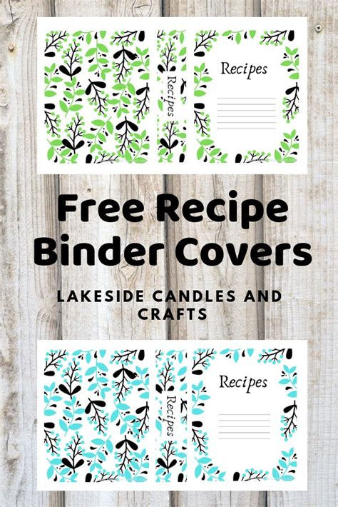 printables  recipe book covers binder covers