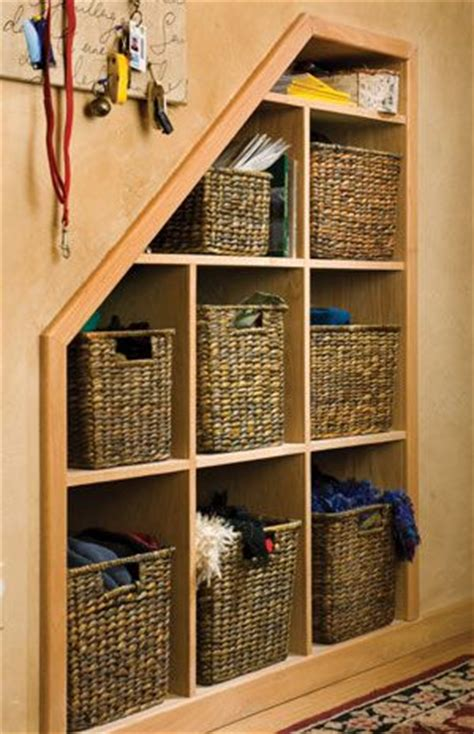 creative storage ideas  small cabins stair storage