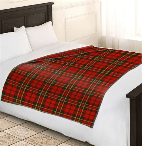 soft warm single red tartan check fleece blankets sofa