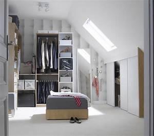 Faire Dressing Dans Une Chambre : un dressing sur mesure sous vos combles leroy merlin ~ Premium-room.com Idées de Décoration