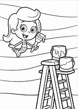 Bubble Guppies Pages Coloring Printable Colouring Molly sketch template