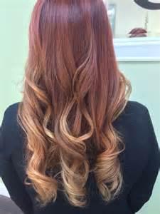 Red Balayage Hair Highlights