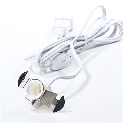 single socket electric clip in l cord l