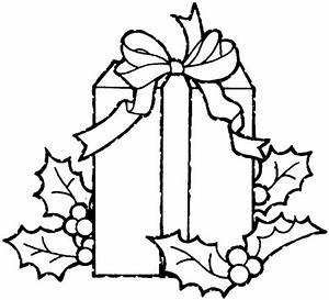 christmas gift coloring page - christmas gift coloring pages 3 purple kitty