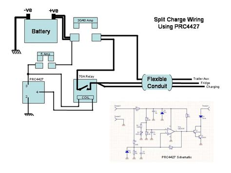wiring diagram for 12s socket and split charge relay 52
