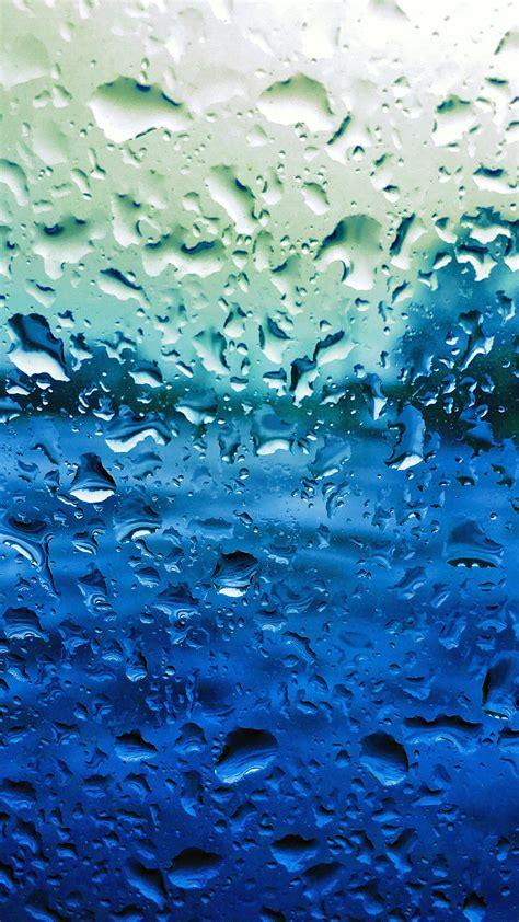papersco iphone wallpaper vr rain drop window blue sad pattern