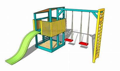 Playground Clipart Clip Equipment Outside Projects Wooden