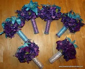 regency purple and malibu blue set at www With regency purple wedding decorations