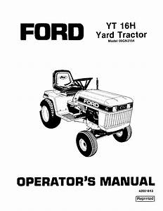 New Holland Ford Yt16h Yard Tractor Operator Manuals Pdf