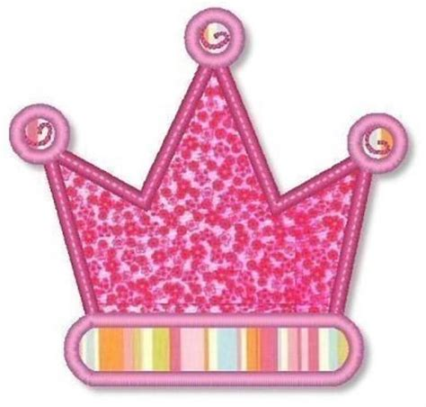 crown applique  mini designs    machine