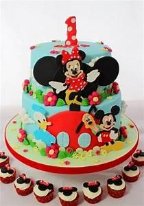 Mickey Mouse Geburtstag : geburtstagstorte mit figuren aus der mickey mouse zeichentrickserie torte pinterest ~ Orissabook.com Haus und Dekorationen