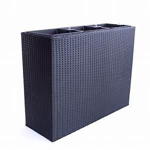 Blumenkübel Als Raumteiler : xxl pflanztrog polyrattan als raumteiler 82x30x80cm schwarz ~ Michelbontemps.com Haus und Dekorationen