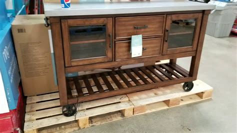 Costco Bayside Wood And Galvanized Metal Top Kitchen