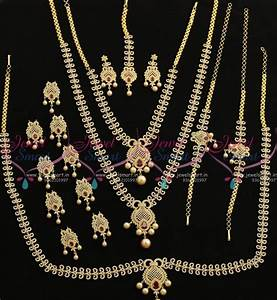 Set Online Shop : br7707 ruby white latest design grand full bridal ad imitation jewellery set online ~ Orissabook.com Haus und Dekorationen