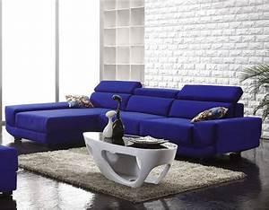 Canapé Bleu Roi : d co salon bleu et blanc canap design bleu roi ~ Teatrodelosmanantiales.com Idées de Décoration