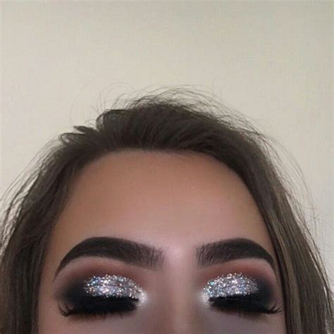 glitter eye silver eye makeup black eye makeup prom