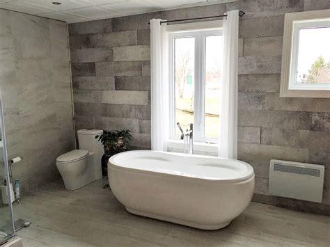 salle de bain avec c 233 ramique mur 224 mur r 201 novation daniel