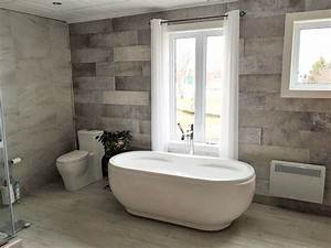 Salle de bain avec ceramique mur a mur renovation daniel for Salle de bain ceramique photo