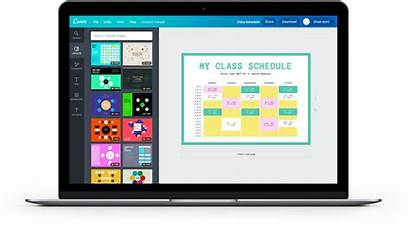 Class Schedule Canva Maker Schedules Create Organized