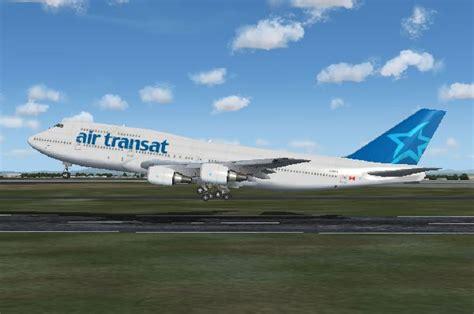 vols air transat boeing 747 300 air transat avions scenery panels fs2004 l aviation les simulateur de vols