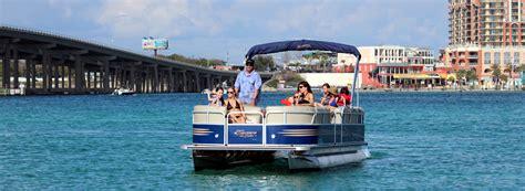 Pontoon Boat Rental Destin by Destin Pontoon Rentals Reef Resorts