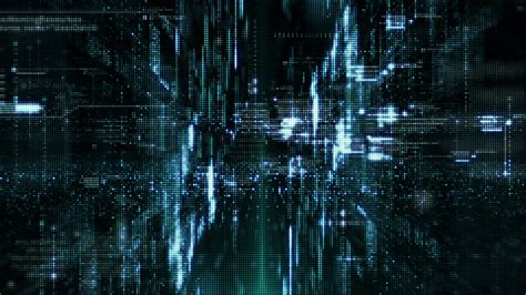 Cyber Background Digital Matrix Particles Grid Reality Abstract