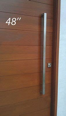 long door handle square pull handle modern brushed stainless steel ebay