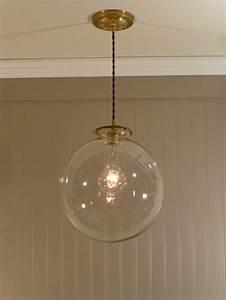 Pendant lighting ideas large clear glass globe