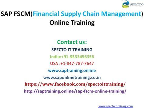 sap financial supply chain management