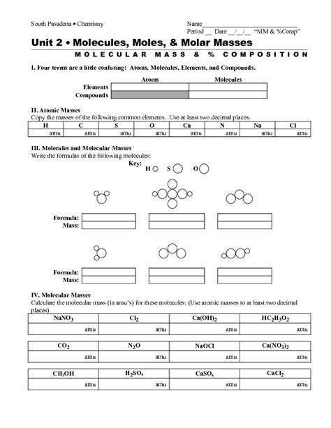 chemistry percent composition worksheet worksheets for all