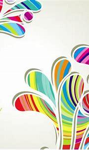 Colorful Stripy Splashed Swirls Background - Vector download