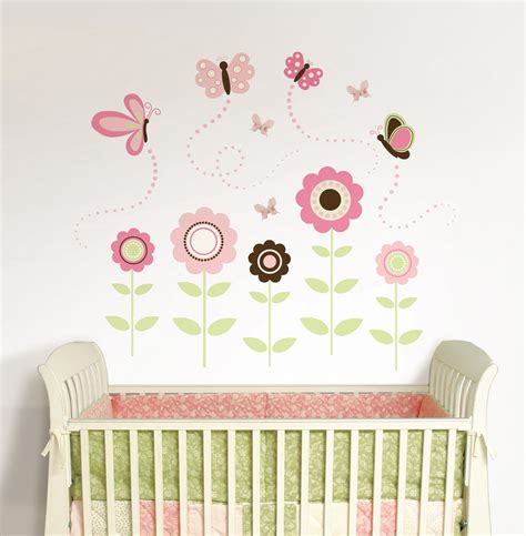 butterfly nursery decor butterfly garden wall sticker kit