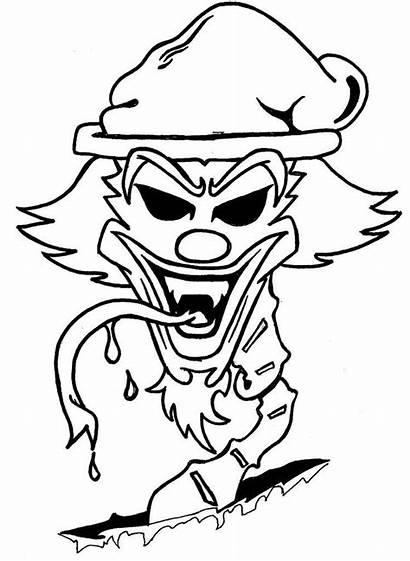 Clown Insane Hatchet Posse Coloring Icp Pages