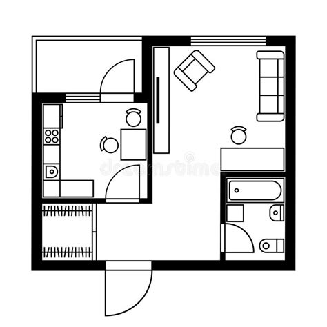 plan d une chambre d hotel plan d 39 étage d 39 une chambre avec des meubles vecteur
