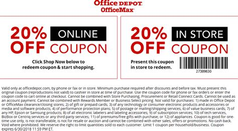 Office Depot Coupons June by Office Depot Coupons 20 At Office Depot Officemax