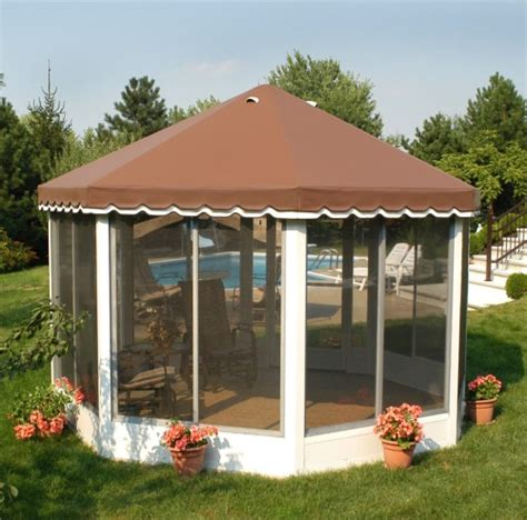 free standing screen room kits octagonal and