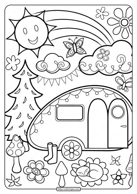 rv coloring pages coloring home