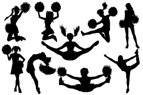 cheerleader silhouettes ai eps png    amelie